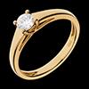 Solitär Diamant Weisgold