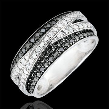 ring d mmerschein schwebender schatten wei gold und schwarze diamanten edenly schmuck. Black Bedroom Furniture Sets. Home Design Ideas